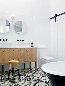 Salle De Bain Carrelage Noir : deco salle de bain carrelage noir et blanc ~ Dailycaller-alerts.com Idées de Décoration