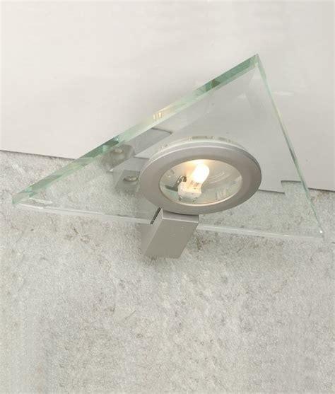 kitchen glass cabinet lighting glass cabinet light triangular