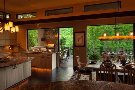 indooroutdoor dining contemporary kitchen charlotte