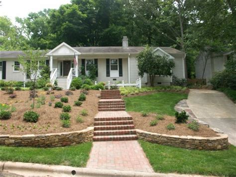 sloping front yard 55 best front yard slope images on pinterest backyard ideas gardening and landscaping