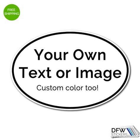 design your own stickers create your own custom oval marathon style sticker dfw