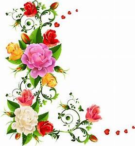 Color flower corner designs free vector download (30,156 ...