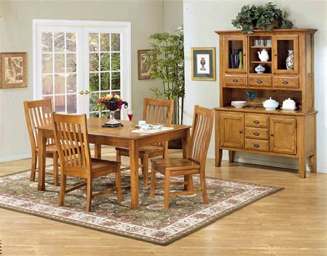 intercon furniture cambridge  piece solid oak dining room
