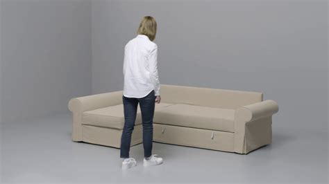 Ikea  Backabro  Slaapbank Met Chaise Longue Youtube