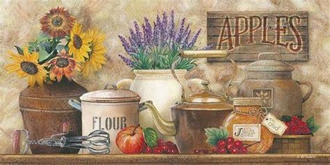 art print framed  plaque  ed wargo antique kitchen