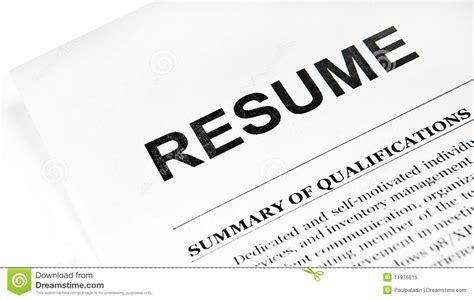 resume royalty free stock photo image 11976615