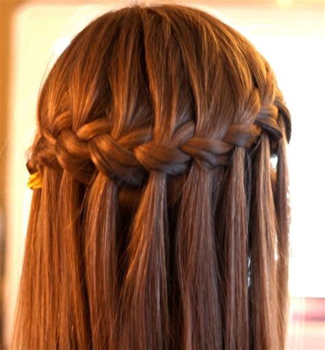 waterfall braid hairstyle classic waterfall braid for