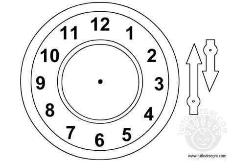 orologio  le lancette da ritagliare tuttodisegnicom