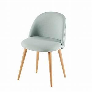 Chaise Vert D Eau : chaise en tissu vert d 39 eau et bouleau massif mauricette salon pinterest chaise en tissu ~ Teatrodelosmanantiales.com Idées de Décoration