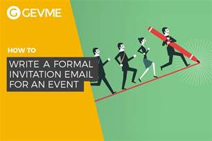 write  formal invitation email   event