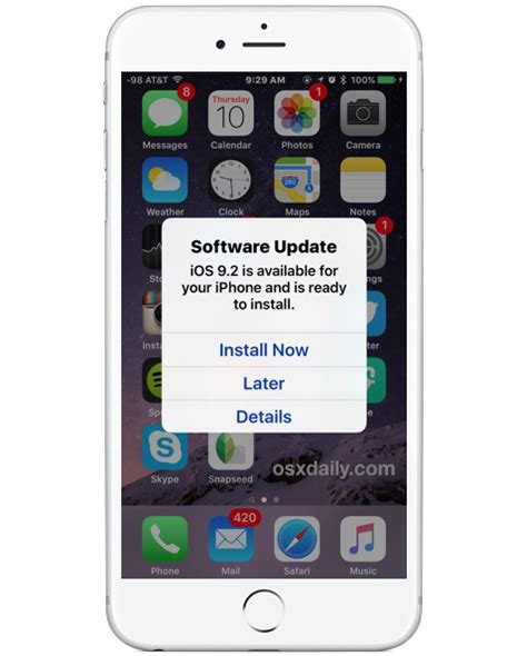 automatic updates on iphone automatically install ios software update in the middle of