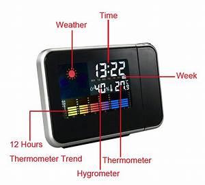 8190 Multifunction Projection Alarm Snooze Clock Super