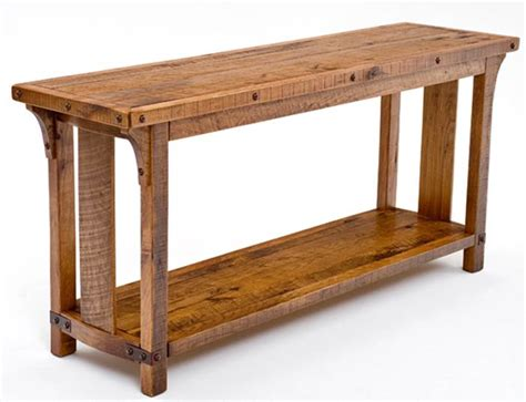 Solid Wood Sofa Table Amish Mission Sofa Table Keystone