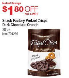 Costco Deal - Snack Factory Pretzel Crisps Dark Chocolate ...