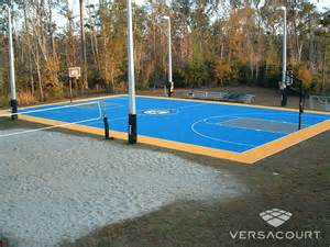 Outdoor Backyard Basketball Courts