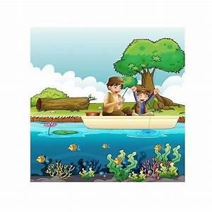 Papier Peint Geant : papier peint enfant g ant pecheurs 3680 stickers muraux ~ Premium-room.com Idées de Décoration