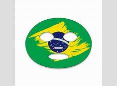 Flag Face Tattoo Fan Brazil Bobsam