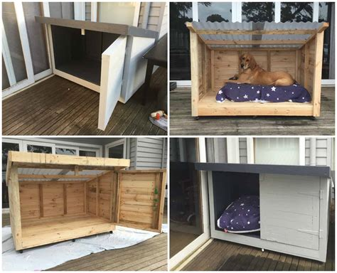 roomy pallet dog kennel pallet ideas  pallets