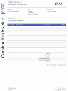 Construction Invoices Free 10 Free Construction Invoice Templates Excel Word