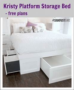 How To Build A Queen Size Platform Bed With Storage ...