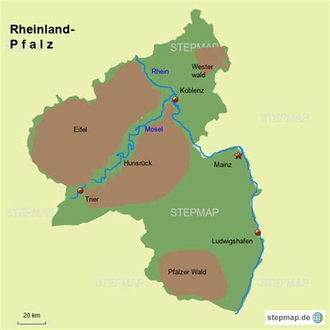 Rheinland Pfalz Karte Mit Flüssen