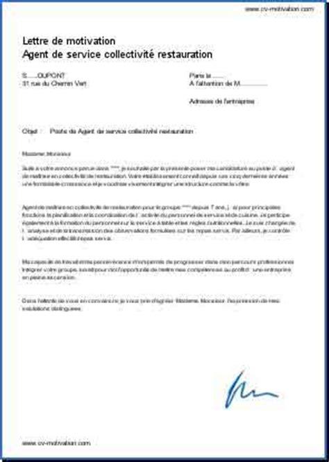 exemple lettre de motivation cuisine lettre de motivation candidature spontanée cuisine collective lettre de motivation candidature
