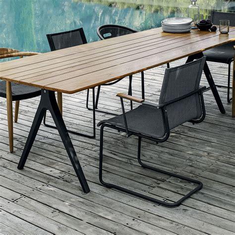 gloster split teak dining table luxury outdoor living