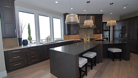 kitchen cabinets washington state quartz adds modern touch to lakeside home in washington 6445