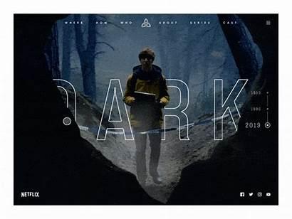 Dark Netflix Giphy Animation Shakuro Interaction Dribbble