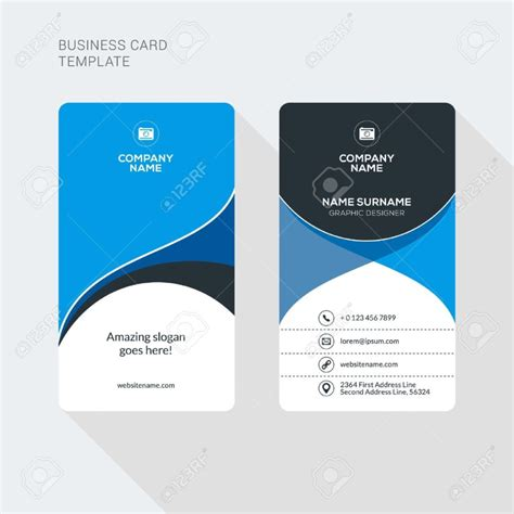 2 Sided Business Cards Templates Free by Two Sided Business Card Template Business Card Template