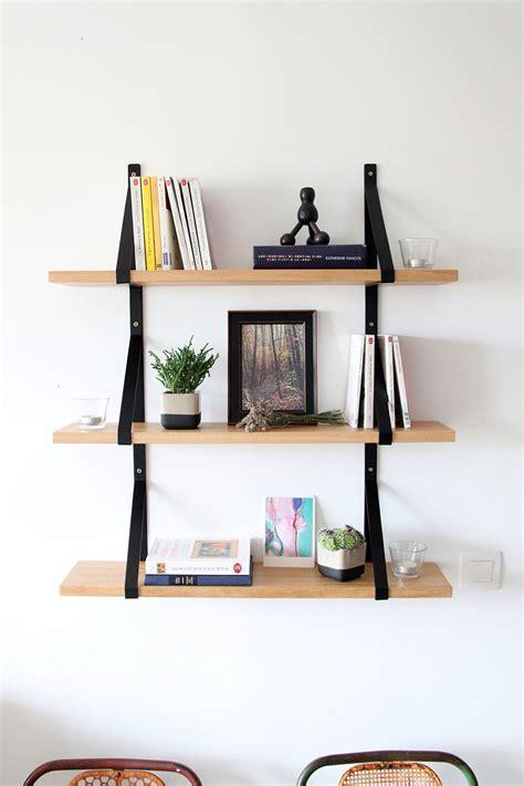 bureau suresnes etagère murale bois massif et métal meubles et