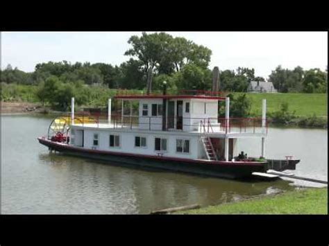Paddle Wheel Boat For Sale by Butch Williams Builds A Paddlewheel Boat