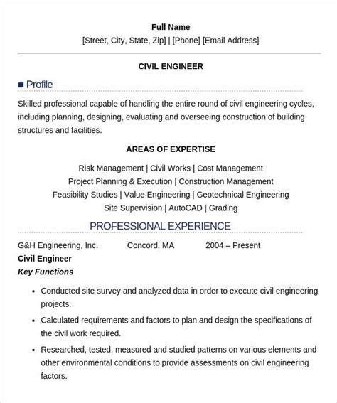 Resume Builder For Freshers by 16 Civil Engineer Resume Templates Free Sles Psd