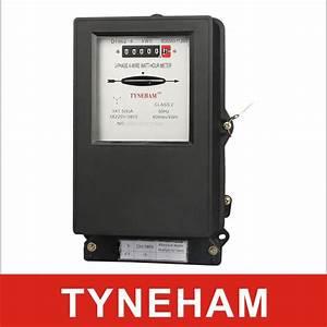 Black Cover Electromechanical Energy Meter    Iron