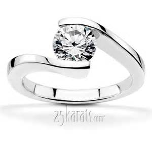 tension setting engagement ring cut tension set solitaire engagement ring