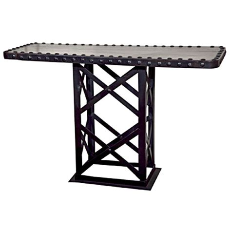 industrial metal console table industrial metal console table at 1stdibs