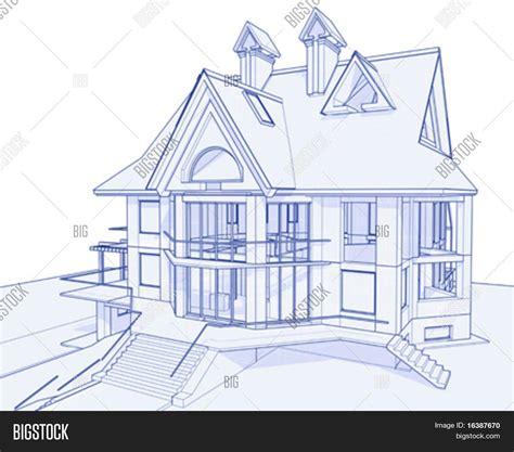 ardoise cuisine dessin de maison en 3d