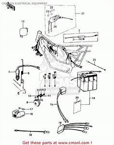 Kawasaki 1978 Ke100-a7 Ke100 Chassis Electrical Equipment