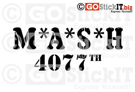 mash jeep decals mash 4077 logo bing images