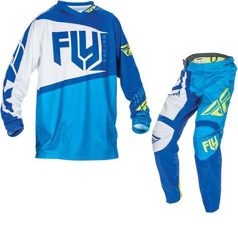 fly motocross jersey fly racing 2017 f 16 motocross jersey pants blue hi viz