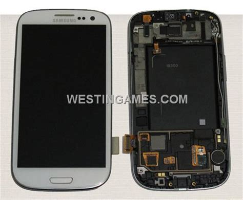 original samsung galaxy s3 i9300 lcd screen touch digitizer w frame button assembly