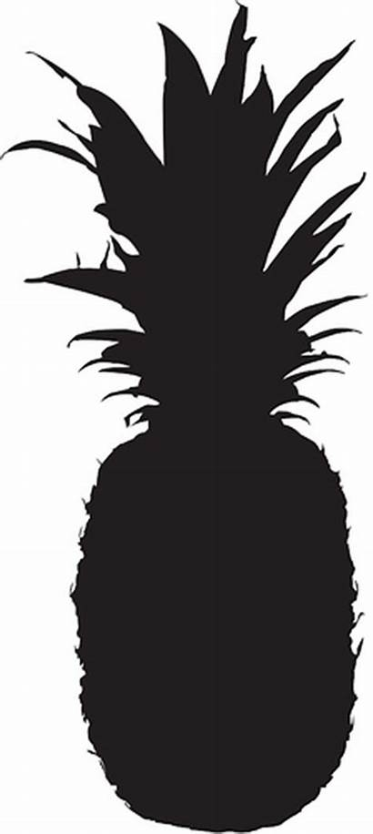 Pineapple Silhouette Clipart