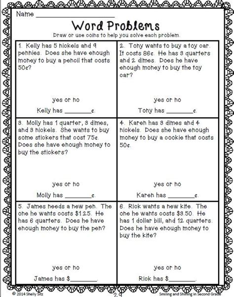 indian money word problems for grade 2 word problems