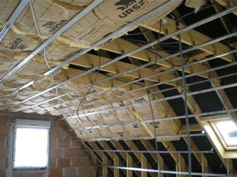 plafond et isolation combles construction de notre maison