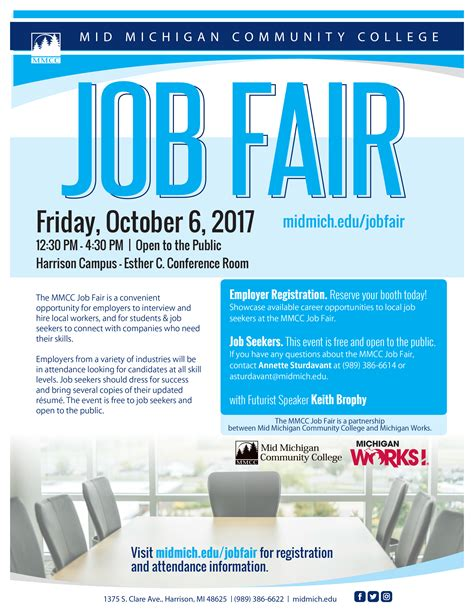 Job Fair October 6  Mid Michigan College. Ledger Template Free. Sample Follow Up Email After Phone Interview Template. Tourism Ppt Templates. Free Sample Non Compete Agreement Template Kgeev. Open Office Presentation Templates. Model Church Template Paper Template. Sample College Application Resumes Template. Time Tracking Template