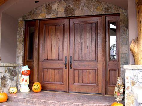 custom wood front entry doors custom solid mahogany wood double door with modern style double