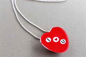 Valentine's Day Necklace with Letter Beads - Resin Crafts
