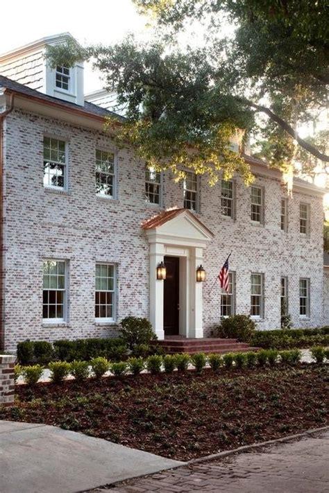 White Wash Brick Home Exterior