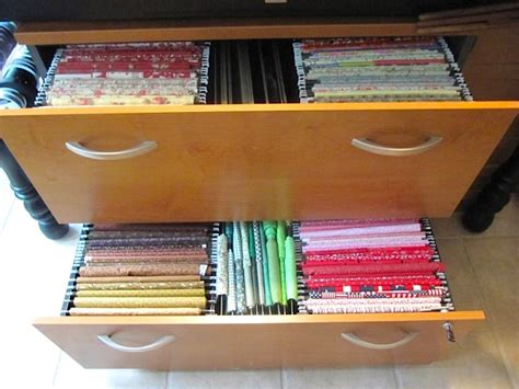 how to organize your file cabinet sew many ways organizing fabric filing update