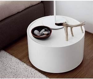 Beistelltisch Mit Schublade : novamobili runder beistelltisch allout mit schublade ~ Bigdaddyawards.com Haus und Dekorationen